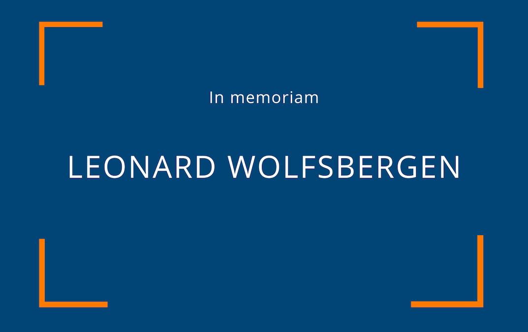 In memoriam – Leonard Wolfsbergen